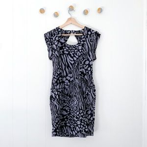 Urban Outfitters Animal Print Keyhole back Dress S
